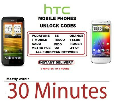 HTC Mobile Phone Unlock Code - Most models Supported & Others Fast Service