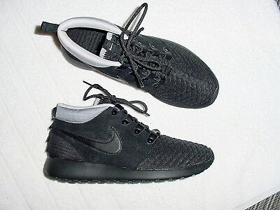 new product 4ac88 d001c Mens Authentic Nike Roshe Run Mid Black Silver Multi Running Shoes 8.5 M