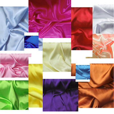 "5 Yard Lot Premium Satin Charmeuse Wedding Bridal Silky Fabric 60"" Wide"