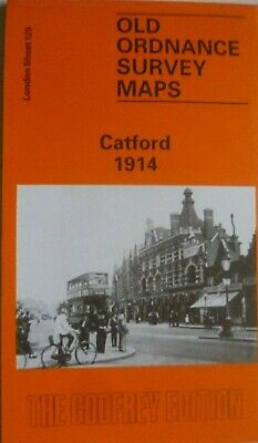 Old Ordnance Survey Detailed Maps Catford London  1914 Godfrey Edition New