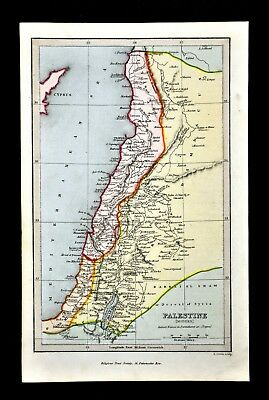 c 1799 Map - Palestine Modern - Gaza Syria Israel Jerusalem - Holy Land Bible