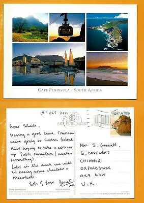 South Africa  Postcard  Stamp - Cape Peninsula - Cape Town -Table Mountain --.