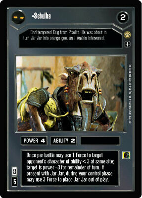 They Will Be No Match For You x1 SP SWCCG Star Wars CCG Tatooine FREE SHIPPING