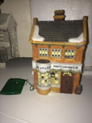 Department 56 Christmas Heritage Village Dickens Geo Weeton Watchmaker Building