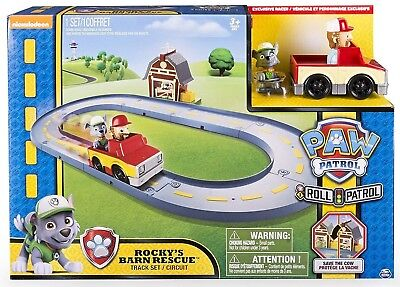 NEW IN BOX Paw Patrol Roll Patrol Rocky's Barn Rescue Track Set Spinmaster Toy