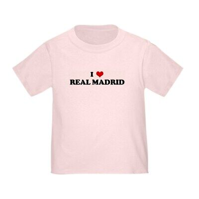 0cdf550dcff CafePress I Love REAL MADRID Toddler T Shirt Toddler T-Shirt (392374905)