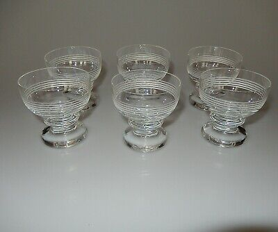 Trend by Thomas Rosenthal Set of 6 Crystal Glass Cordial Glasses