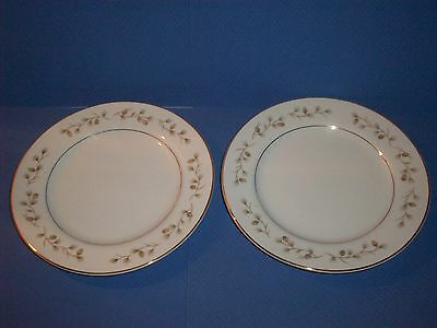 Royal Cameo Fine China Whispering Pine Bread & Butter Plate Japan # 3302 Set 2
