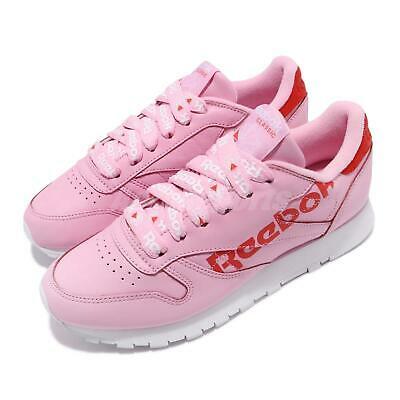 42768ca9acc Reebok CL LTHR Charming Pink Red White Women Classic Shoes Sneakers DV3831