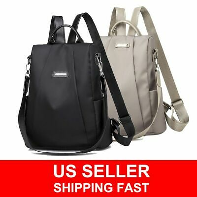 Women Waterproof Oxford Cloth Travel Backpack Nylon Anti-theft Shoulder Rucksack