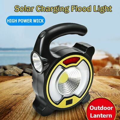 30W Outdoor Portable Spot Lamp USB Charging Solar Rechargeable Flood Light LED