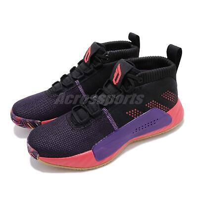 best website c7da0 ffa6f adidas Dame 5 CBC Black Purple Damian Lillard Mens Basketball Shoes EE4058