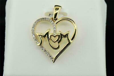 Women's 10 ct Love Heart Diamond Pendant Charm For Necklace 14k Yellow Gold Over