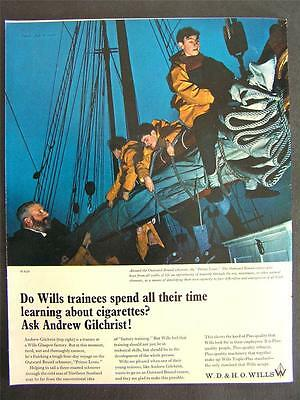 1960s advertisement WILLS cigarettes Price Louis Andrew Gilchrist advertising #