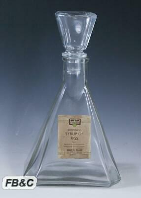 1920/30s Apothecary Bottle - Syrup of Figs - Stanley R. Prentice