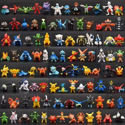 Lot 144pcs Pokemon Toy Set Mini Action Figures Pokémon Go Monster Vinyl 2-3cm UK