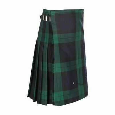 Kids Casual Polyviscose Black Watch Kilt aged 0-12 Available - Heavy weight