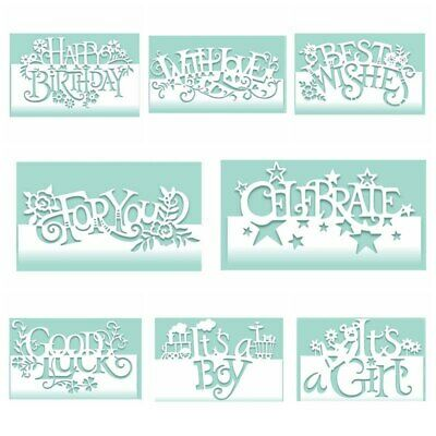 Words Edger Metal Cutting Die Stencil Scrapbooking Paper Cuts Cards Handrafts