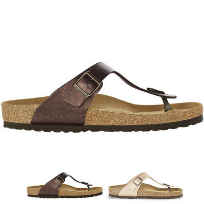 cde49aaa23bfa5 Womens Birkenstock Gizeh Birko-Flor Summer Holiday Casual Beach Flip Flop  UK 3-9