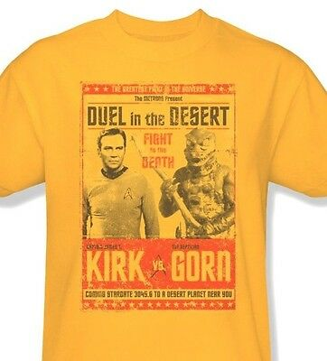 Star Trek Kirk vs Gorn T-shirt Free Shipping original TV series cotton cbs1112