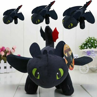How to Train Your Dragon 2 Toothless Night Fury Plush Toy Soft Doll Kids Gift