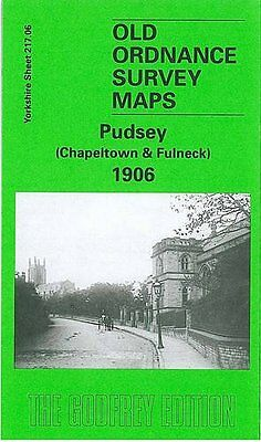 Old Ordnance Survey Map Pudsey (Chapeltown & Fulneck) 1906