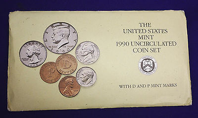 1990 UNCIRCULATED Genuine U.S. MINT SETS ISSUED BY U.S. MINT