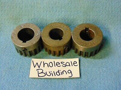 "(2)411328 (1)411329 Gears, 1-3/4"" & 1-7/8"" Bores, 18 Teeth, 1-9/16"" Od, Lot Of 3"