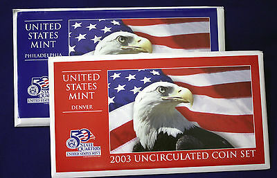 2003 UNCIRCULATED Genuine U.S. MINT SETS ISSUED BY U.S. MINT