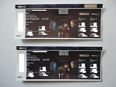Muse - Simulation Theory Tour - Roma 20/07/19 - Biglietti Prato - Tickets Floor!