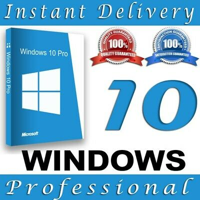 Ms Genuine Windows 10 Professional Pro Key 32|64 Bit Activation Code License Key