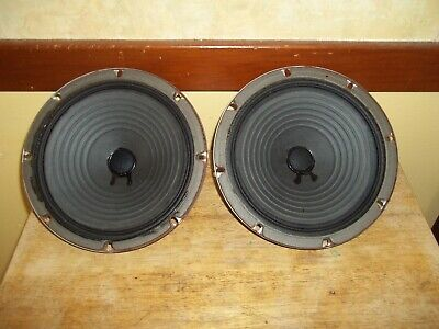 "2-Vintage Heppner Alnico 8""-8 Ohm Speakers With Ribbed Cones"