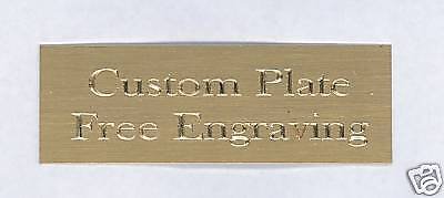 Custom Engraved Plate art-trophy-Taxidermy 1x3 Brass FANTASY FOOTBALL