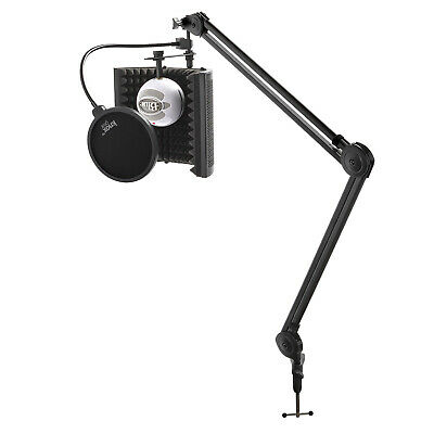Blue Microphones Snowball iCE USB Microphone (White) with Knox Boom Arm Bundle