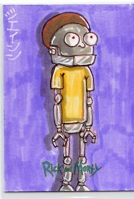 Robot Morty Sketch Card 2018 Rick and Morty Cryptozoic Season 1 Jason Montoya
