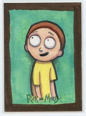 Morty Sketch Card 2018 Rick and Morty Cryptozoic Season 1 Nathan Szerdy