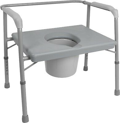 Commode Seat Bariatric Aid - Heavy-Duty Extra Wide - Brand New