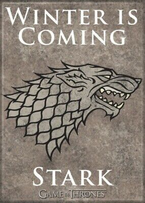 Game of Thrones House of Stark Logo Winter Is Coming Refrigerator Magnet UNUSED