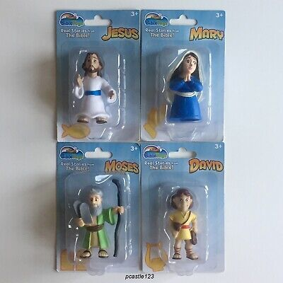 bible character figurines mary and david cake toppers & more moses set of  bible toy