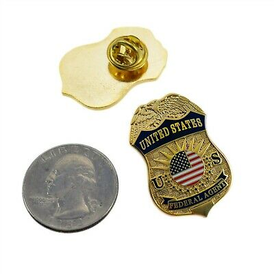 United States Federal Agent Police Mini Badge Lapel Pin Tie Tac Novelty Shield