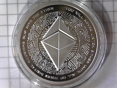 2018 Silver Shield Ethereum 1 oz Silver Proof CRYPTO Low Mini Mintage 407/441