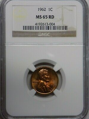1962-P & 1968-S Lincoln Memorial Cents NGC Graded MS65 RD Free same day Shipping