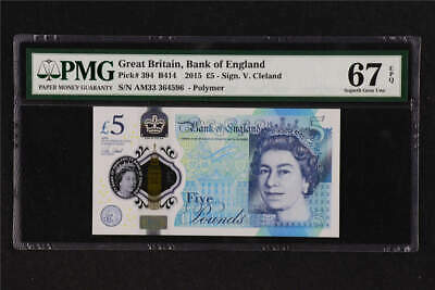 GREAT BRITAIN £10 Pounds 2015 P389e Cleland UK Bank of England x 1 UNC Banknote