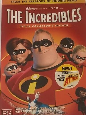 The Incredibles (2 Disc Collectors Edition) DVD Like New