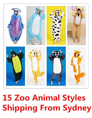 Adult Kids Unisex Kigurumi Animal Onesie1 Pajamas Cosplay Costume Sleepwear Zoo