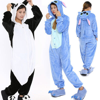 2019 hot sale unisex pajamas cosplay costume animal pajamas set panda cute.