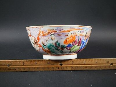Cute Small Antique Chinese Export Famille Rose Bowl Hint of Grisaille C. 1780