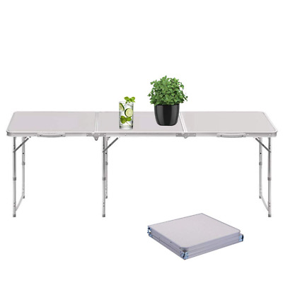 6FT Large Heavy Duty Folding Table Portable Plastic Camping Garden Party Trestle
