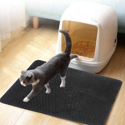 Cat litter Mat - Double Layer Pad - Large Flexible Trapping Pad Rug for Box Pan
