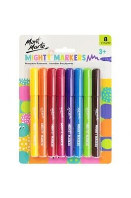 1pce Mont Marte MM Mighty Markers / textas 8pc
